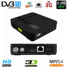 Digital Terrestrial Receiver DVB T2 HEVC H.265 Full 1080P TV Tuner Built in RJ45 Lan Support Youtube DVB T2 K2 MAX Set Top Box