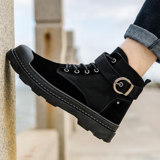 Botas Militares t cticas de desierto para hombre Zapatos de seguridad Militares de combate Militares