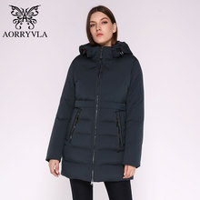 Winter Jacket Woman Parkas AORRYVLA Padded Hooded-Coat Warm Thick Long Women's Cotton