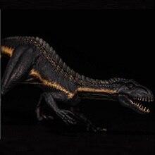 Nanmu 1:35 Berserker Raptor Dinosaur Indoraptor With Small Human Figure Movable Jaw Black Color Version