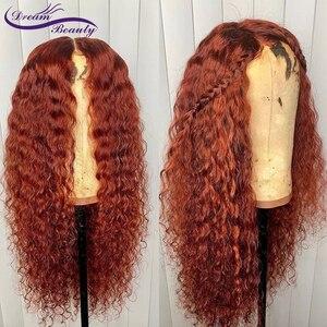Image 3 - Dream beauty Омбре Цвет волнистые кружева спереди человеческие волосы парики с волосами младенца Омбре бразильские волосы remy кружевные парики боковая часть