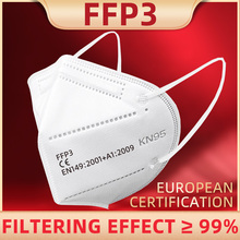 Mascaras Mouth Mask FFP3 Protection Maske Disposable Face Masque Antibacterial Anti Virus Masks EN149 2001+A1:2009 Certification