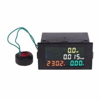KETOTEK Voltimetro Amperimetro Digital AC 220V 80-300V 0-100A Medidor de Voltaje y Amperaje Volt Amp Pantalla LED con Transformador de Corriente