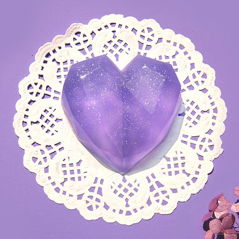 8 Cavity 3D Love Heart Silicone Soap Mold Reusable Silicone Molds For Decoravtive Soap Making DIY Homemade Art Soaps