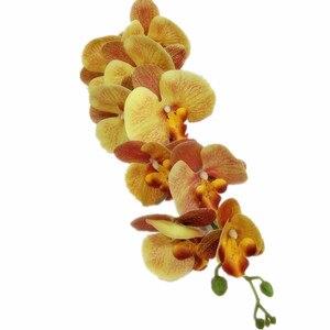 Искусственный Голубь из латекса бабочка Орхидея Цветы 9 головок Настоящее прикосновение хорошее качество фаленопсис Орхидея 40
