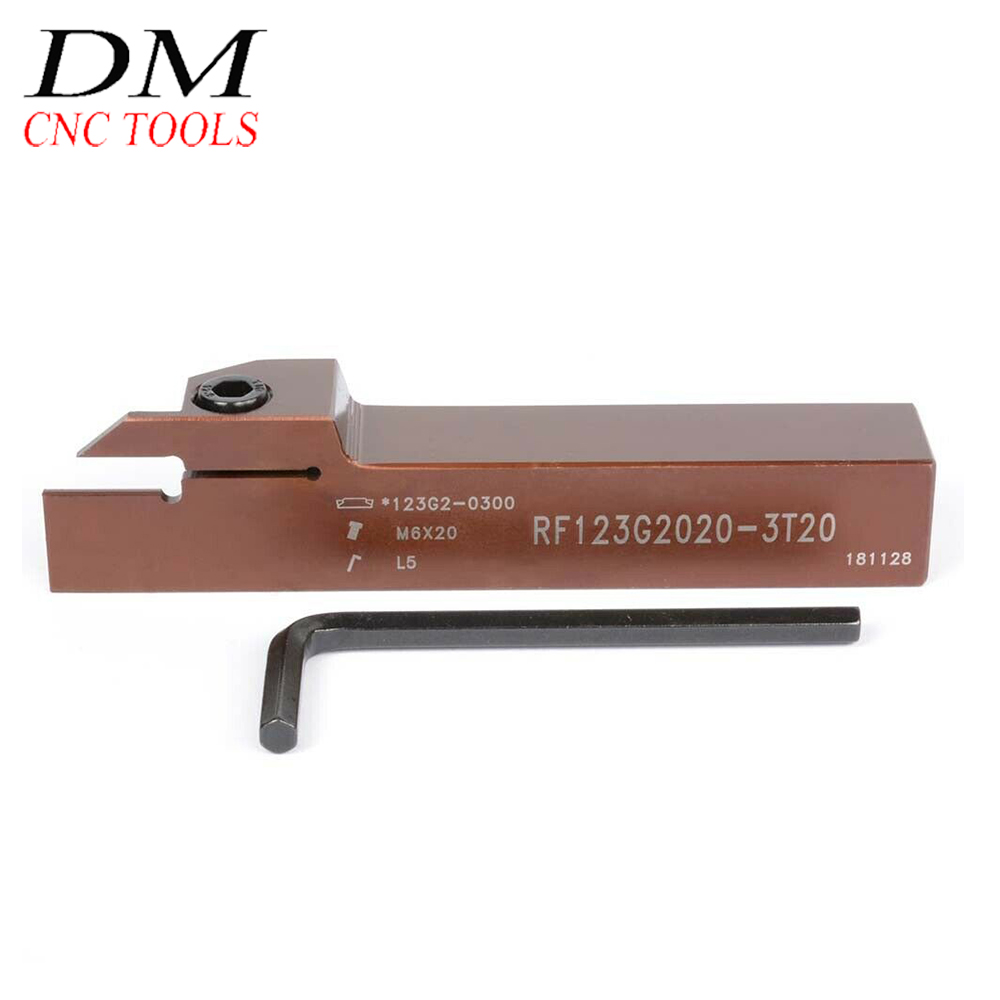 RF123G20-2020B RF123G2020-3T20 / 123-G 2020-3 Grooving Cutter Lathe Tool For N123G2-0300 Carbide Inserts