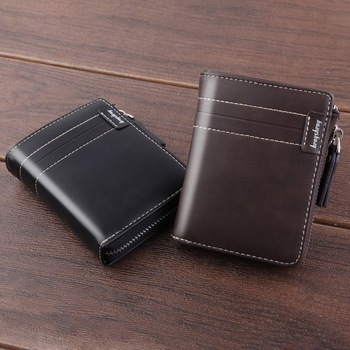 Nowa skóra PU dla mężczyzn portfel z kieszeń na suwak duża pojemność posiadacz karty małe portmonetki portfele portmonetka na zamek błyskawiczny portfel tanie i dobre opinie Litthing CN (pochodzenie) Krótki 120g Skóra syntetyczna 2 5inch Stałe Na co dzień 12120 Wnętrze slot kieszeń 11 8inch