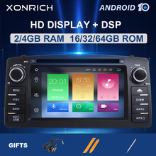 DSP 4GB 64G Android 10 รถ DVD Player สำหรับ Toyota Corolla E120 BYD F3 2 DIN Car มัลติมีเดียสเตอริโอ GPS AutoRadio นำทาง 8Core