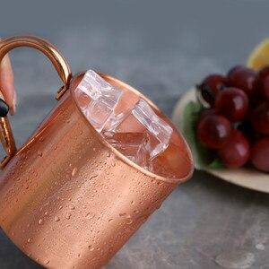 Кружка из чистой меди с ручкой в европейском и американском стиле, стеклянная чашка для коктейлей из мула, чашка из чистой меди для ресторанов, бар, чашка для холодного напитка h3