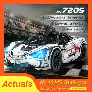Новые McLaren 720S APP RC Technic серии гоночного автомобиля 13145 совместимые lepinings MOC строительные блоки кирпичи модель игрушки подарки кирпичи