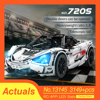 New McLaren 720S APP RC Technic Series Racing Car 13145 Compatible lepinings MOC Building Blocks Bricks Model Toys Gifts bricks цена 2017