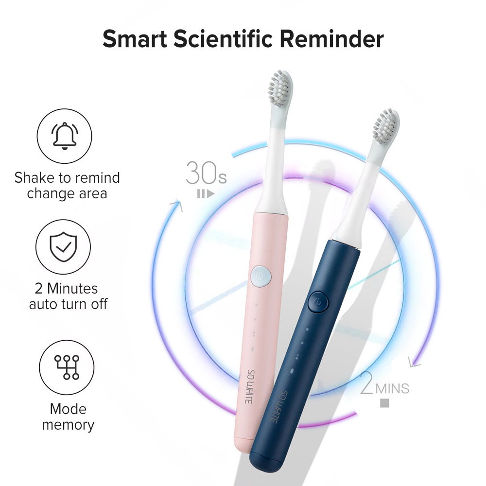 Image 3 - Xiaomi SOOCAS Sonic Electric Toothbrush Ultrasonic Automatic Tooth Brush Adult Waterproof Cleaning USB Rechargeable For SO WHITE-in Electric Toothbrushes from Home Appliances