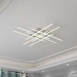 Image 4 - Современная светодиодная люстра, потолочная лампа с хромированным покрытием для гостиной, спальни, ресторана, кухни, комнатное освещение