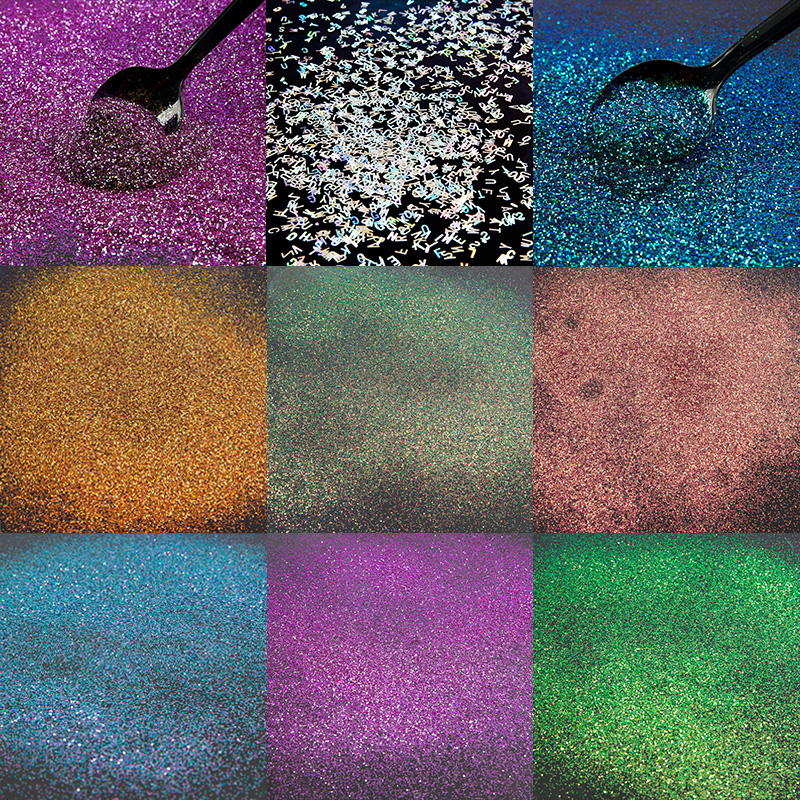 Chameleon Pigment Flakes Magical Resin Coloring Colour Shifting Chrome Pigment Galaxy Decoden Jewelry Making Coloring UV Resin