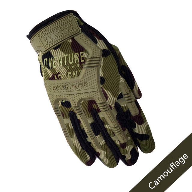 Army Combat Tactical Gloves Men Full Finger Camouflage Paintball Military Gloves SWAT Soldier Shoot Bicycle Mittens handschoenen 2