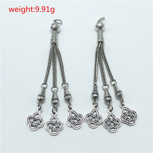 Pendant Metal Tassel Rosary Necklace-Accessories Bracelet Jewelry-Making Starmoon 2pcs