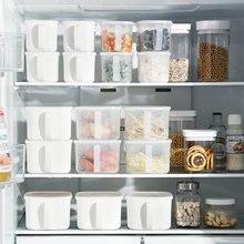 Manter fresco cozinha caixa de armazenamento de alimentos recipiente conjunto organizador quadrado tampa a vácuo frascos herméticos despensa legume cereais arroz