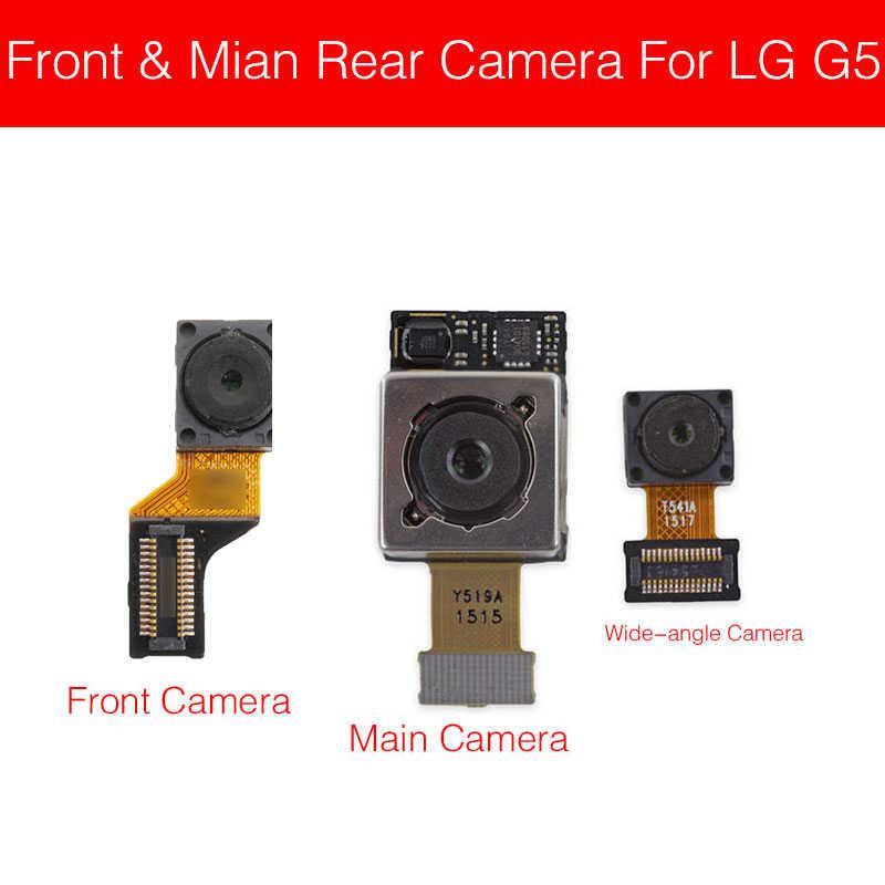 Ön ve ana arka kamera Flex kablo LG G2 G3 G4 G5 G6 G7 Q6 geri büyük kamera + küçük bakan kamera onarım parçaları için iyi test