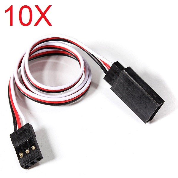 LEORY 10PCS 300mm RC Servo Extension Lead Wire Cable Adapter Plugs For Futaba JR RC Car Helicopter Plane