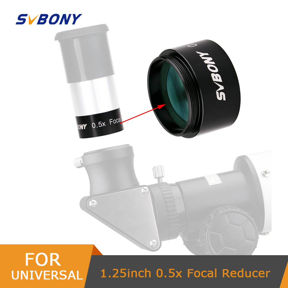 SVBONY 1 25inch 0 5X Barlow Lens M28 5 0 6 Focal Reducer for Astronomy Telescope Monocular Binoculars Eyepiece Photography amp Observin