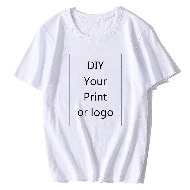 Cartoon Customized Women t-shirt kpop Print Like Photo or Logo Text DIY Your own Design women clothes harajuku aesthetic clothes