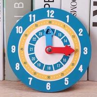 Materiales Montessori para niños, juguetes de reloj de madera, aprendizaje del tiempo, enseñanza, juguetes educativos para niños, tablero inteligente escolar