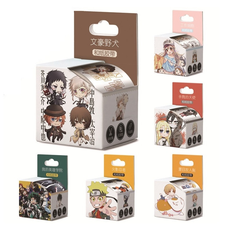 New 4cm*5m Anime My Hero Academia,Conan Washi Tape DIY Cartoon Adhesive Tape Scrapbooking Sticker Label Masking Tape
