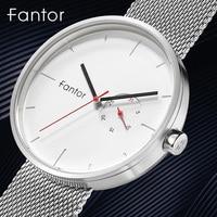 Fantor 2019 Minimalist Ultra Thin Watch Men Top Brand Luxury Sport Quartz Wrist Watch Mens Mesh Waterproof Casual Man Clock