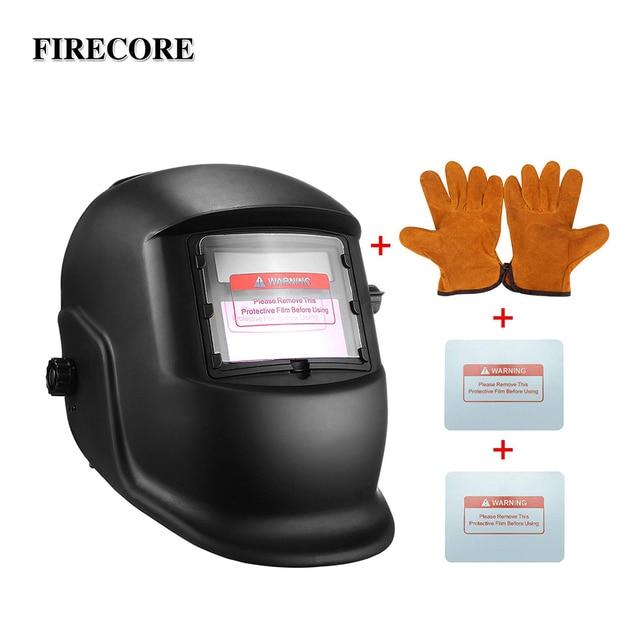 FIRECORE Solar Automatic Darkening Adjustable Range 4/9 13 MIG MMA Welding Helmets