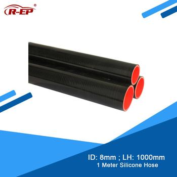 цена на R-EP 1Meter 8MM Silicone Hose Straight Durite Silicone Air Intake Pipe for Intercooler Tube Cold Air intake Pipe Flexible