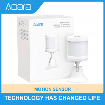 Aqara Motion Sensor Zigbee Connection For Alarm System and Smart Home Automation Broad Detection Range Work with Apple Homekit