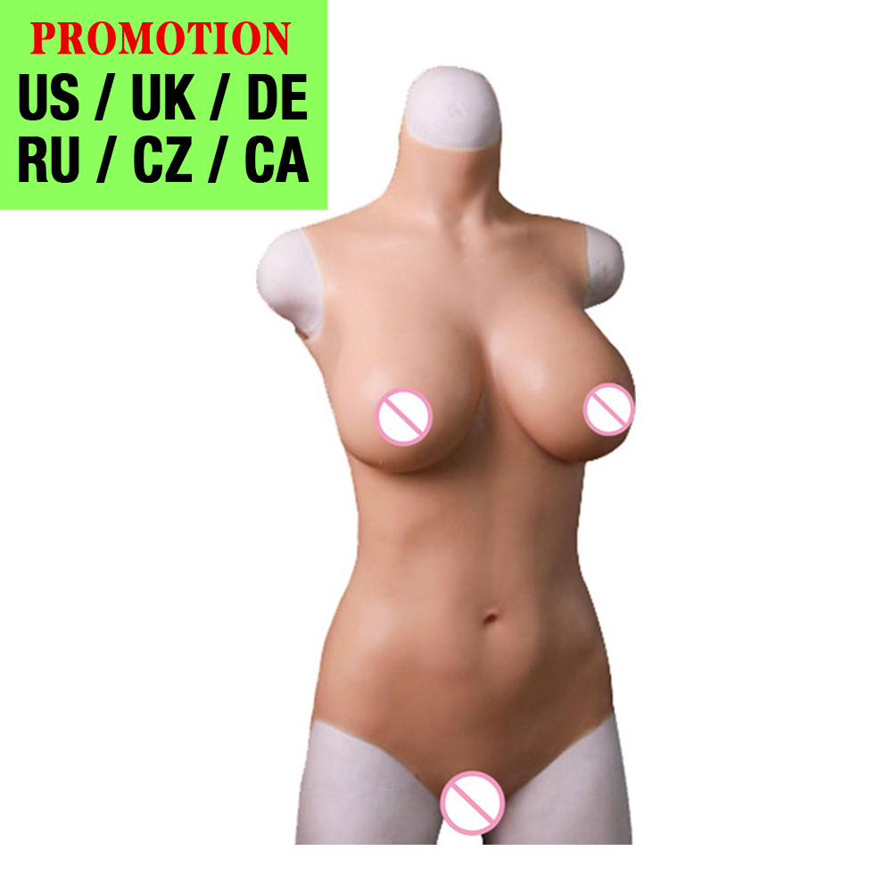 Crossdressers Silicone Breast Forms Bodysuit Fake Realistic Boobs Pussy Vagina Crossdressing For Shemale Cosplay Transgenders