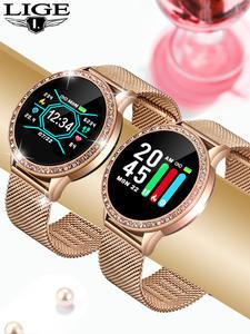 Wrist-Watch Blood-Pressure Digital iPhone Sport Waterproof Electronic Women LIGE Feminino