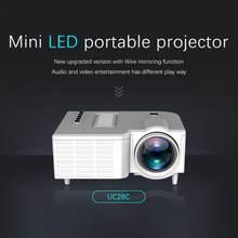 Портативный мини видеопроектор uc28c 16:9 ЖК проектор медиаплеер
