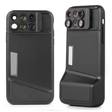 Bluetooth Kit Cassa del Telefono Dellobiettivo di Macchina Fotografica Per Il IPhone X 6 in 1 Fisheye Grandangolare Obiettivo Macro Per iPhone X 10 telescopio Zoom Lenti