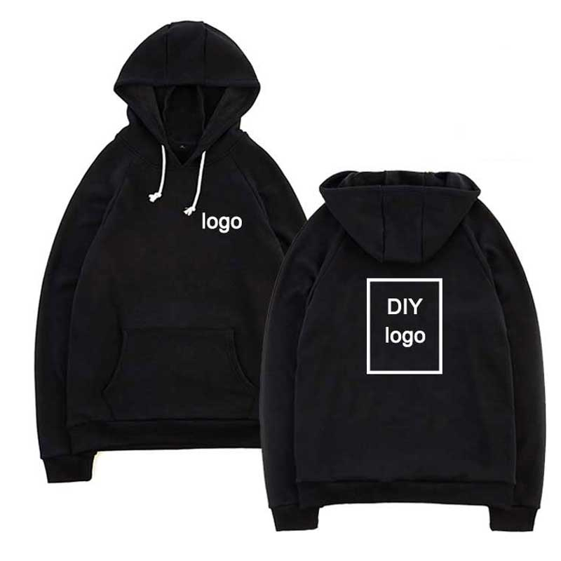 Customized Logo Print Hoodies Wholesale Sweatshirts Comfortable Cotton Hoodies Unisex DIY Logo Streetwear Drop Shipping Clothing