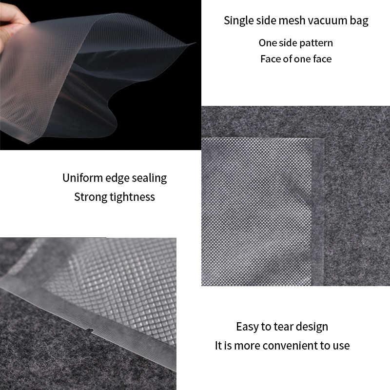 100 Pcs/lot Plastik Vacuum Sealer Makanan Tas Penyimpanan untuk Vacuum Sealing Mesin untuk Paket Makanan Saver Kemasan Gulungan PACKER Seal tas