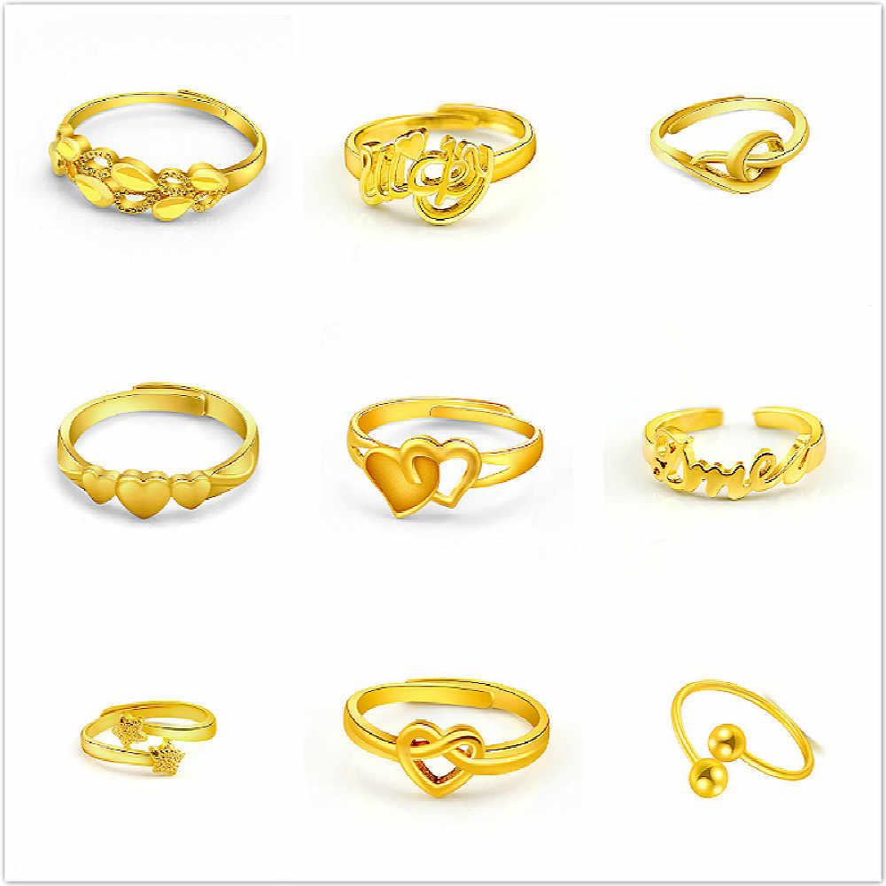 ขายร้อน 17 สไตล์ปรับแหวนผู้หญิงสีทองสแตนเลสงานแต่งงานแต่งงานแหวน Madam เครื่องประดับขายส่ง