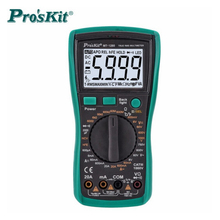 Proskit True RMS Digital Backlight LCD Display AntiBurning Multimeter non-contact electroscope Resistor Transistor Tester meter
