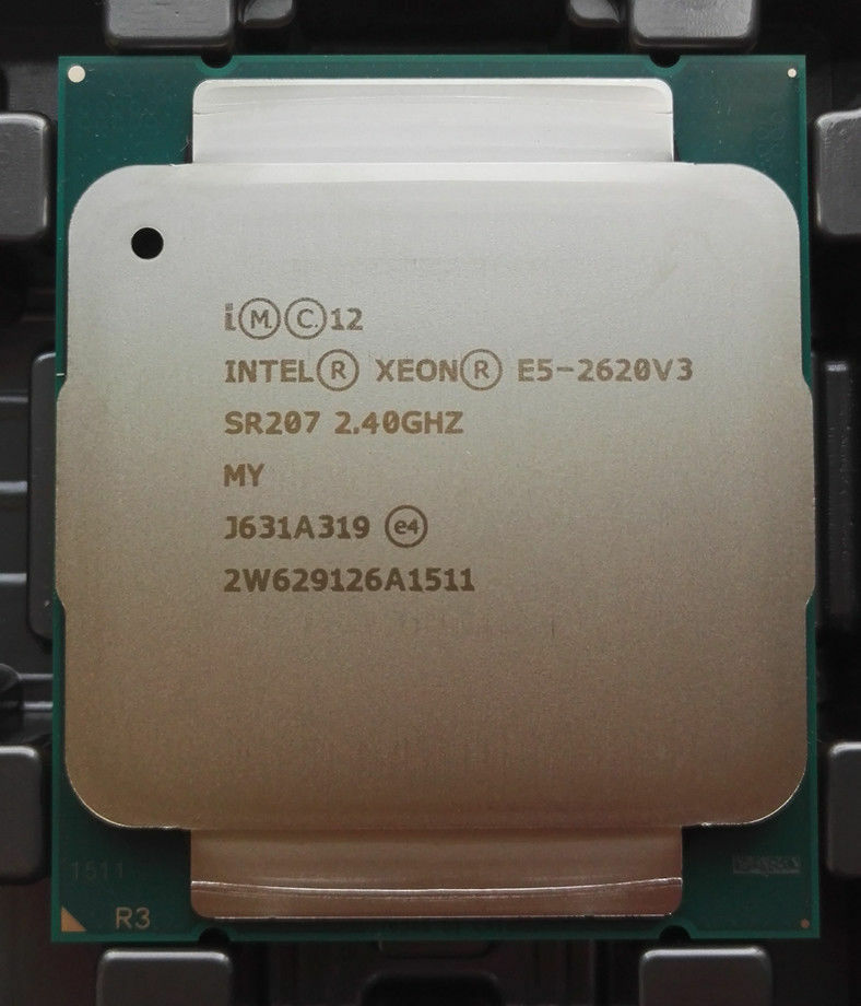Процессор Intel E5 2620 V3, 2,4 ГГц, 15 Мб, 6 ядер, 85 Вт, разъем LGA 2011-3 SR207, V3, процессор