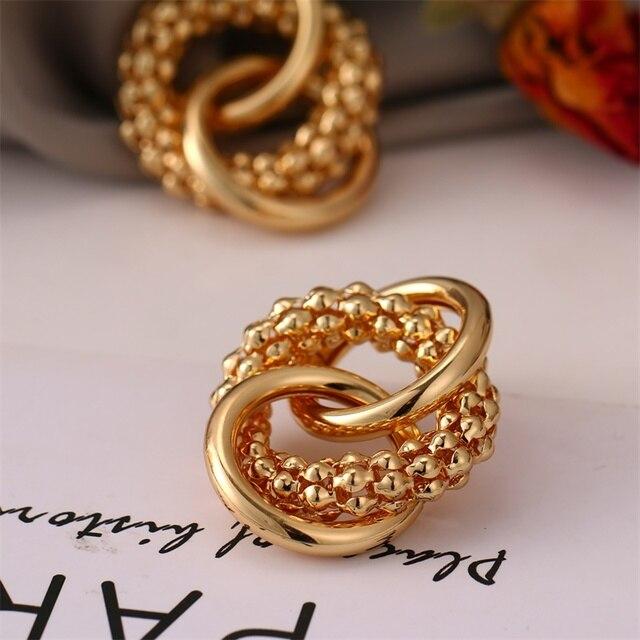 FNIO Fashion Vintage Earrings For Women Big Geometric Statement Gold Metal Drop Earrings 2020 Trendy Earings Jewelry Accessories 5
