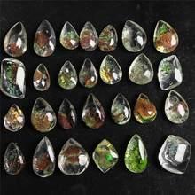 Natuursteen Ghost Phantom Quartz Crystal Gem Specimen Healing Stone Hanger Leuk Cadeau Voor Steen Collectie Lengte 1.5-2cm