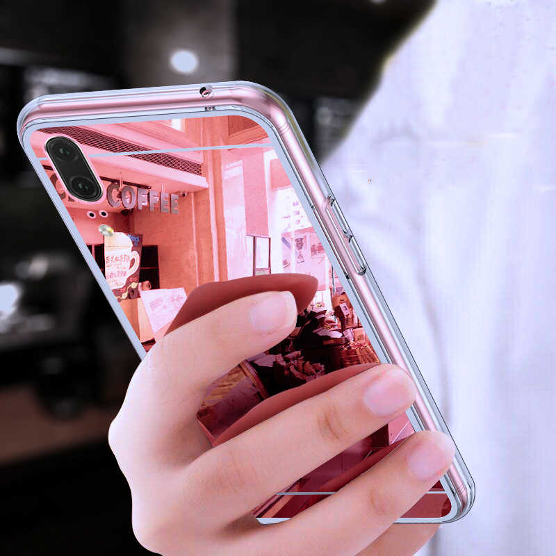 Mirror Case For Huawei P20 P30 Lite Pro Plating Cover For Honor 8 8A 8X 9 10 10i 20 20i Lite Play Clear TPU Soft Silicone Coque