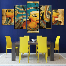 Wall Art Canvas Paintings Vintage Pictures Printed Poster 5 Panel Pharaoh Of Ancient Egypt Home Decor For Living Room Artwork