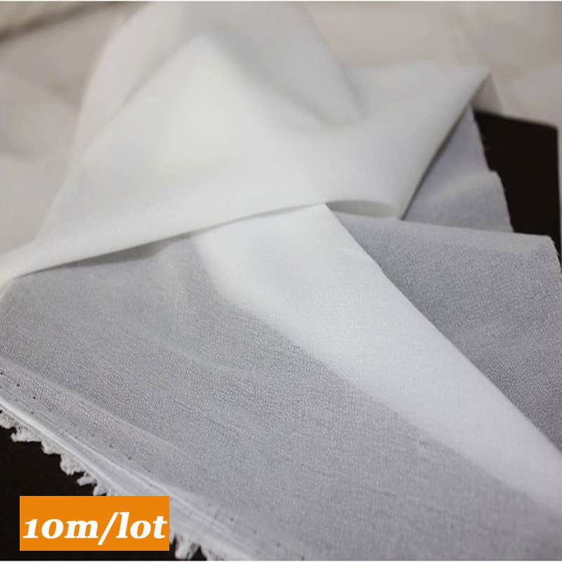 10M/Lot Single Face Glue Woven Interfacing Cloth-lined Fusible Interlining Soft Silk Thin Fabric Sewing entretela adhesiva