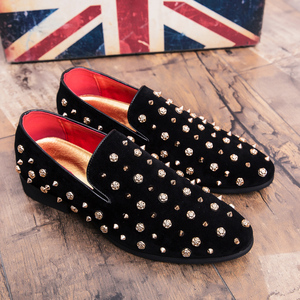 Image 5 - Mens Loafers Luxury Shoes Casual Men Shoes Brand  Sapato Masculino Frosted Studded Leather Shoes High Quality Zapatos De Hombre