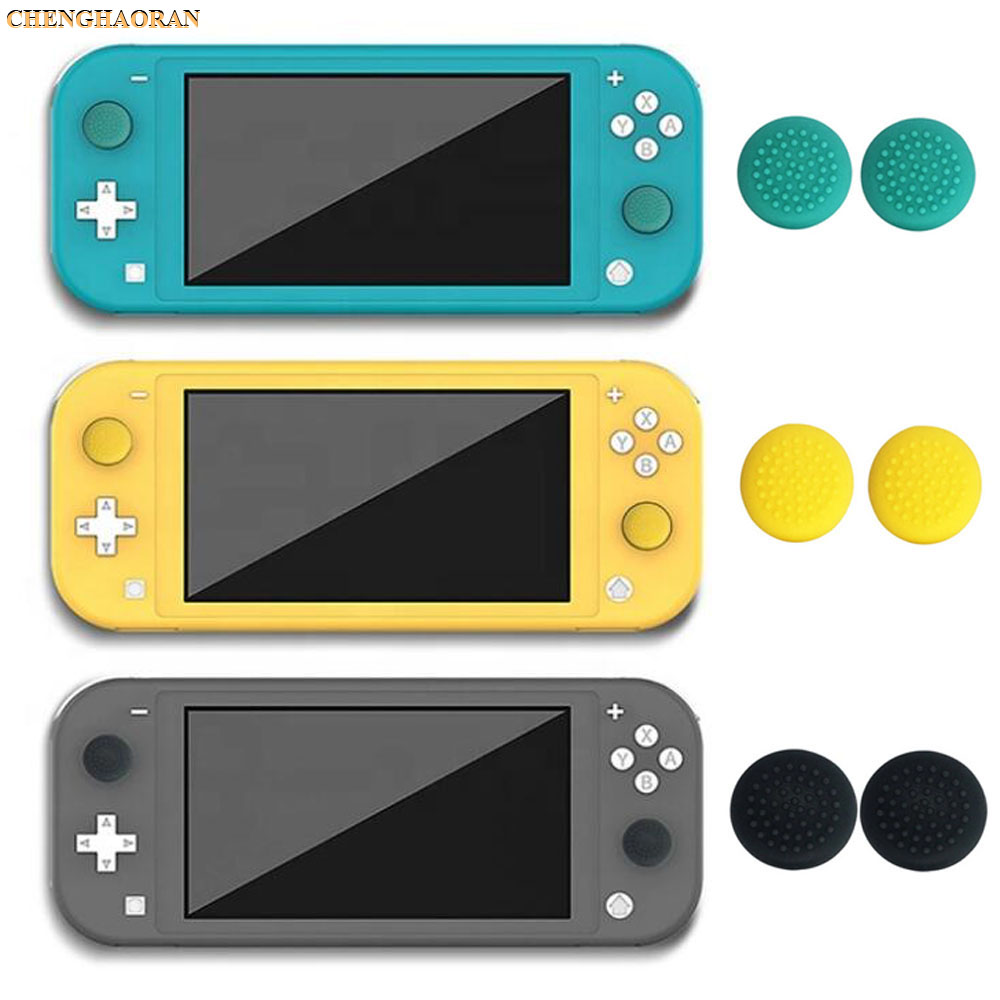 2pcs THUMBSTICK GRIPS For Nintendo Switch Lite Joystick Analog Stick Thumb Grips Silicone Caps Cover Green Yellow Gray Black