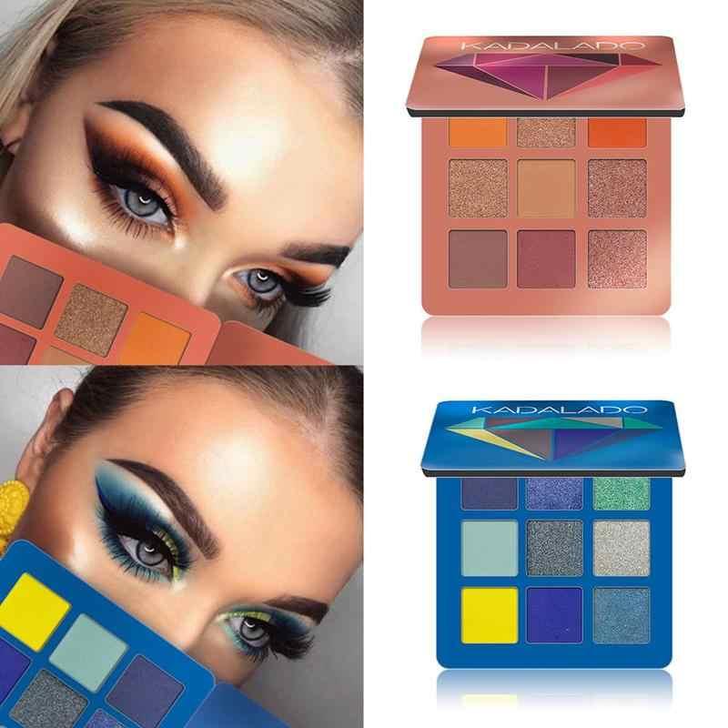 9 цветов, водонепроницаемые тени для век, блестящие матовые тени для век, тени для век, Сияющие, косметика, палитра для макияжа, стойкая для женщин, Nud D8M5
