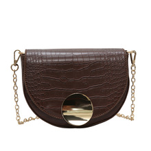 JUILE Women Crossbody Bag Fashion Crocodile Semicircle Saddle Bags PU Leather Shoulder for female Handbags designer bolsas