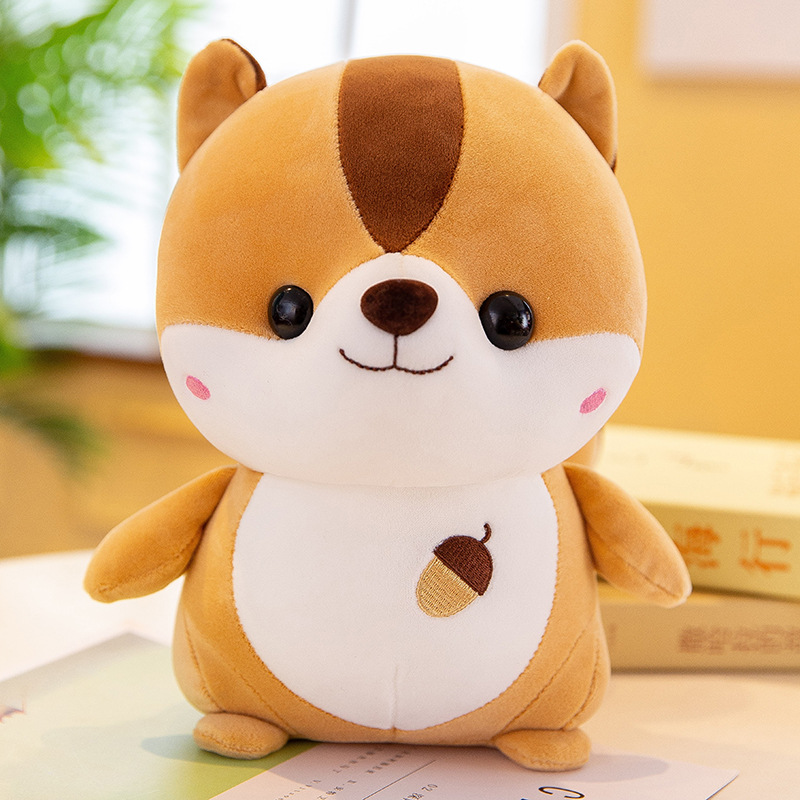 14/25/40/50cm Plush Squirrel Doll Toy Kids Sleeping Back Cushion Cute Stuffed Hamster Baby Accompany Doll Xmas Gift